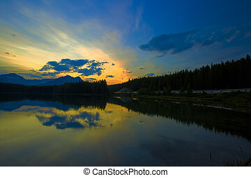 Sunset on Herbert Lake, Banff