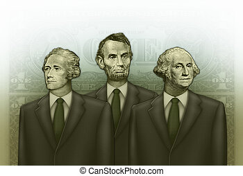 Financial Board of Advisors - Photo-Illustration using parts...