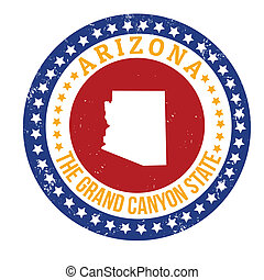 Arizona stamp - Vintage stamp with text The Grand Canyon...
