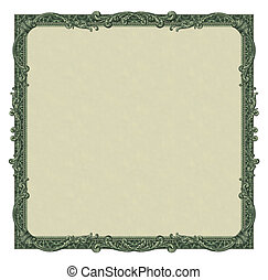 Money Border - Photo-illustration of a border/frame using...