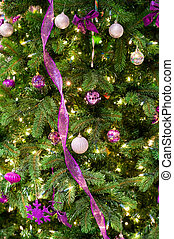 Christmas decorations on a tree - Christmas decorations and...