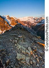 Mountain Summit at Sunrise