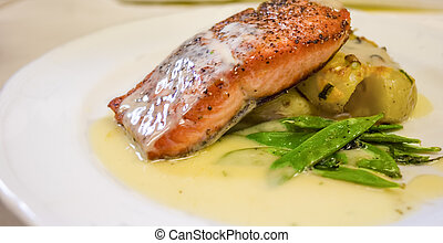 Restaurant Style Salmon Dinner