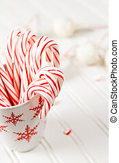 Peppermint chocolate cake pops dipped in white chocolate and...