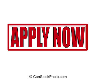 Apply now - Stamp with text apply now inside, vector...