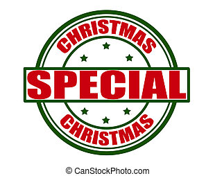 Christmas special - Stamp with text Christmas special...