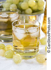 Chilled Grape Juice in a glass