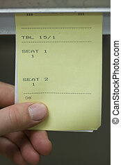 Blank Restaurant Food Receipt