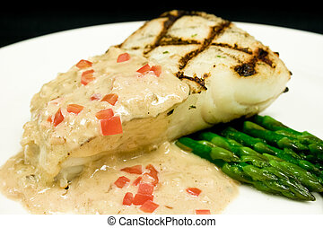 Grilled Halibut Entree