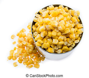 Canned Corn on white - Canned Corn isolated on white