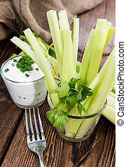 Celery Sticks in a glass (diet food)