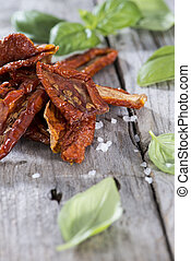 Sun Dried Tomatoes - Salted Sun Dried Tomatoes on vintage...