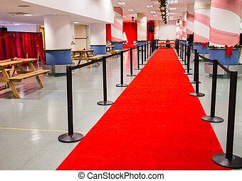 red carpet to santa