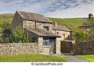 Yorkshire cottage - Stone cottage with barn in the Yorkshire...