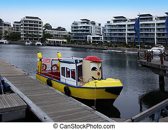 Colorful boats in Cape Town, South Africa. - Cute boat...