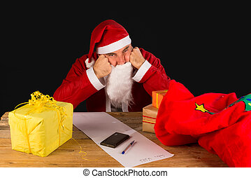 Sulky santa - A sulky Santa completely fed up with the...