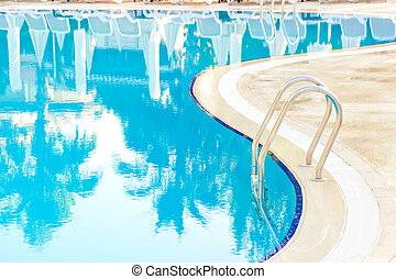 bending edge of the pool and stairs