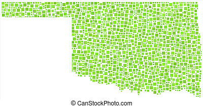 Isolated map of Oklahoma - Decorative map of the State of...