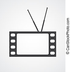 Conceptual TV - Symbolic image of a TV set made of a frame...