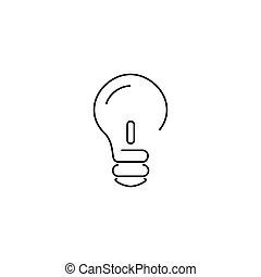 Idea concept thin icon