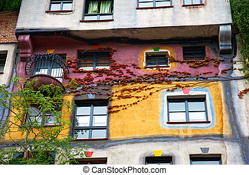 Hundertwasser haus in Vienna, Austria - Hundertwasser House...