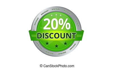 20 percent Discount - Green Animated 20 percent discount...