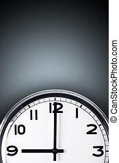 Time Concept - Time concept. Close up view of clock on wall...