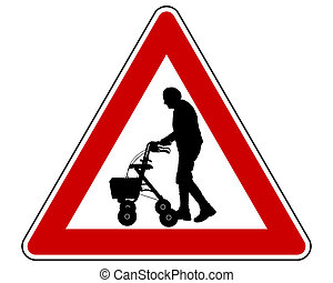 Caution elderly people