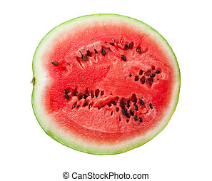 Watermelon - Fresh juicy watermelon isolated on white...