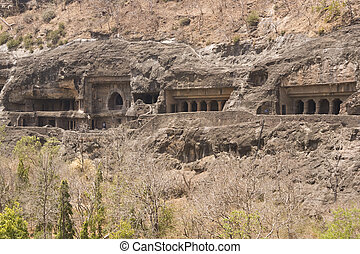 Ajanta Cave Temples - Ancient Buddhist Rock temples at...