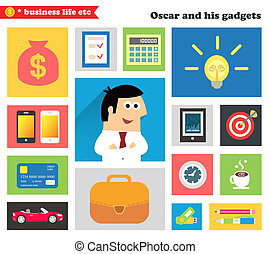 Business gadgets and stuff - Business life. Business gadgets...
