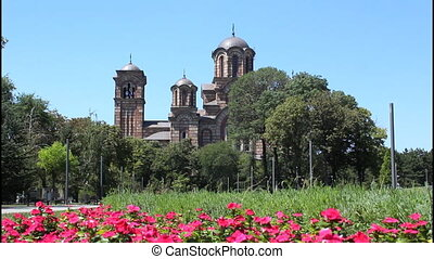 Church, Belgrade - Saint Marko Church, Belgrade, flowers