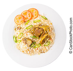 Kabsa Rice - Traditional Arab Middle East dish Kabsa Rice...