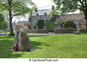 Kingham, Oxfordshire - The village green at Kingham,...