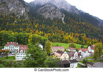 View of Bavarian village from Hohenschwangau - Beautiful...