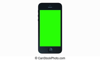3D iPhone Presentation. - Green Screen Smartphone 4G Phone...