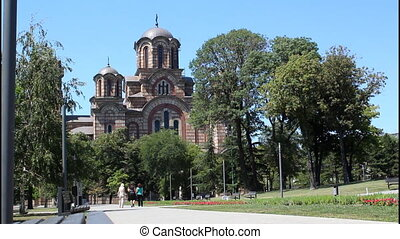 Church, Belgrade, people - Saint Marko Church, Belgrade, 3...