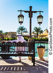 The famous hotel and tourist district of Madinat Jumeirah -...