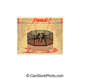 MMA Competitions, Grunge poster