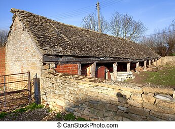 Cotswold shelter shed - Traditional Cotswold sheltershed,...