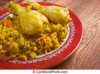 Arroz con Pollo - Peruvian dish called Arroz con...