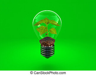 alternative energy - fine 3d image of alternative green...
