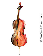 cello isolated on white background. 10 EPS