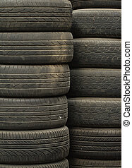 Stack of Used Tires