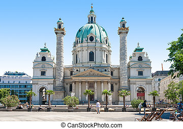 The Karlskirche St Charless Church, Vienna Wein - Spring...