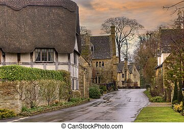 Stanton, Cotswolds - Pretty architecture at Stanton,...
