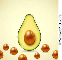 Half an avocado, eps 10