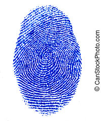 finger print - fine image of blue finger print background