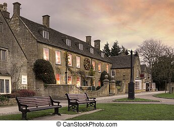 Cotswold village of Broadway, England - Broadway village,...