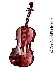 viola isolated on white background. 10 EPS
